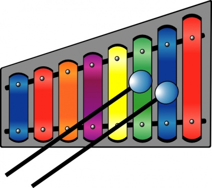 Xylophone clip art Free Vector.