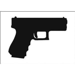 Glock Silhouette Clipart.
