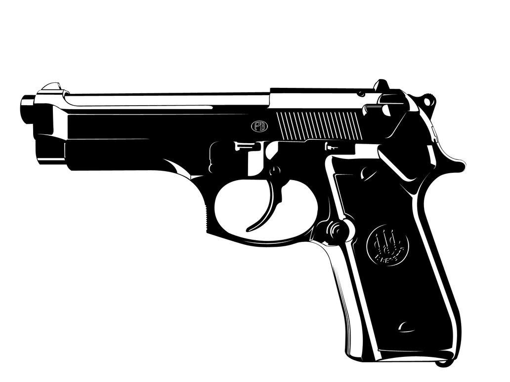9mm Glock Clipart.