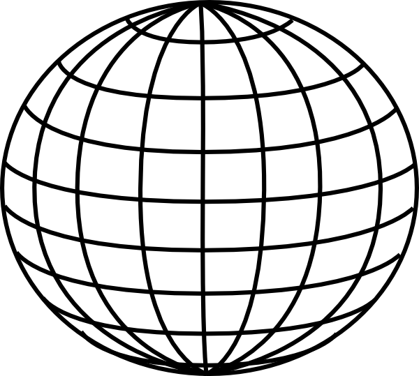 Globe Clipart Black And White.