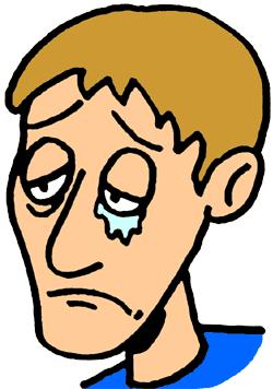 Gloomy Guy Clipart.
