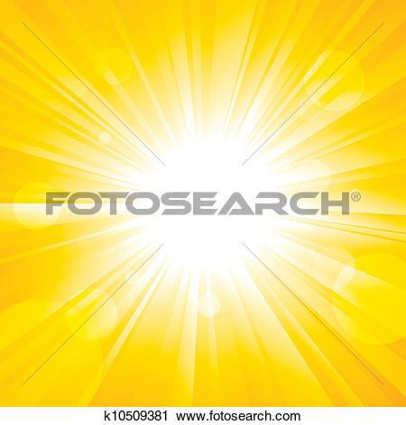 Clipart of Glorious Sun k10509381.