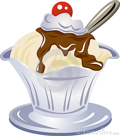 Knickerbocker glory clipart.