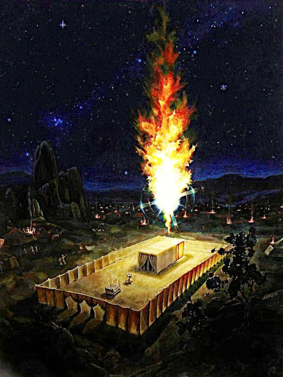 unknown artist, God's Glory over the Tabernacle at Night.