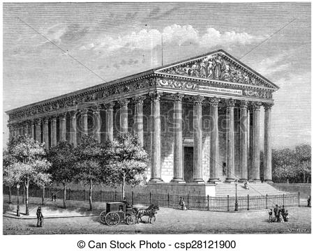 Stock Illustration of The Temple of Glory (Madeleine Church.