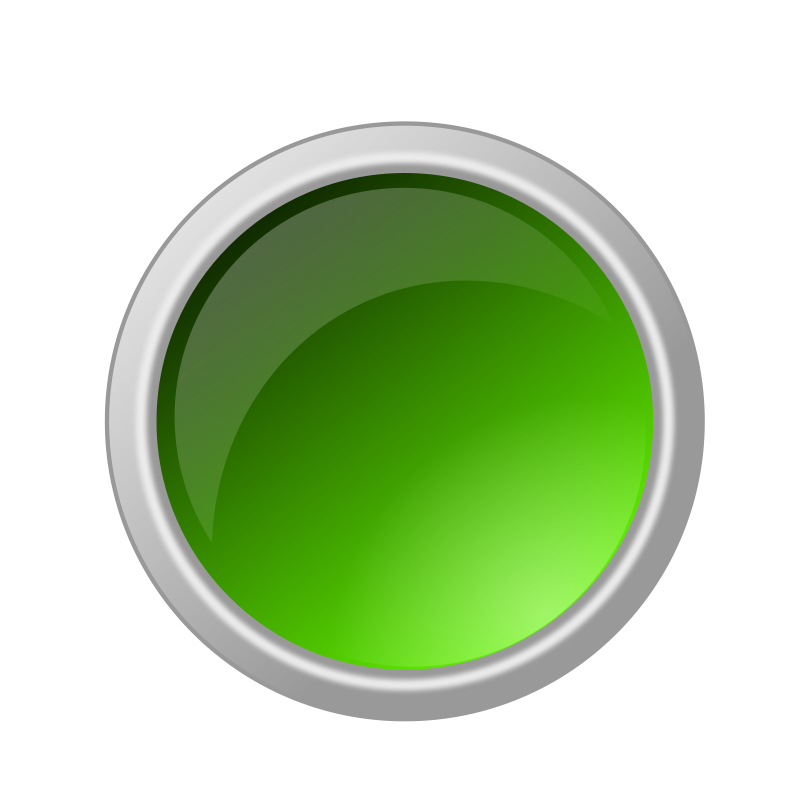 Free Clipart: Glossy green button.