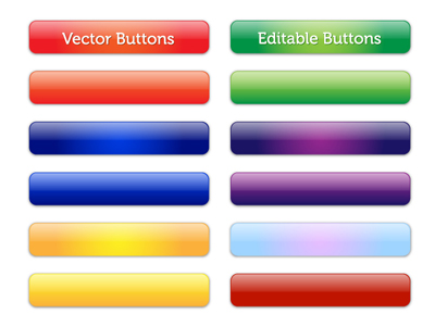 Vector Editable Glossy Buttons Clipart Picture Free Download.