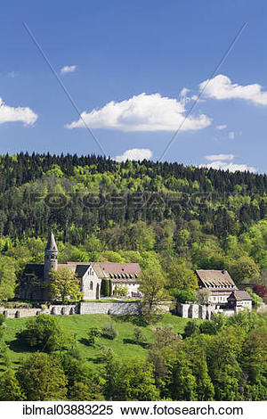 """Stock Image of """"Benedictine Abbey of Lorch, Rems Valley, Baden."""