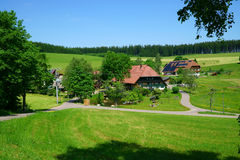 Old Farmhouse In The Black Forest, Germany, Glottertal Stock Photo.