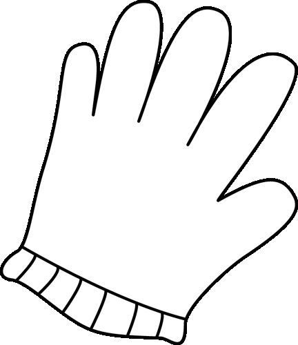 White glove clipart.