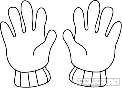 Winter Gloves Clipart.