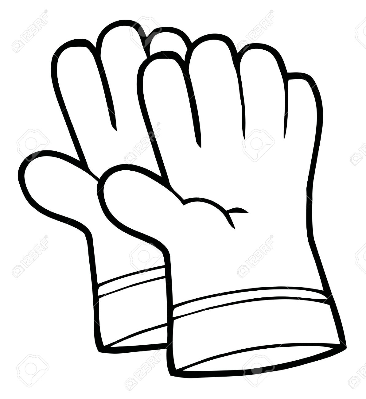Gloves clipart black and white 1 » Clipart Station.