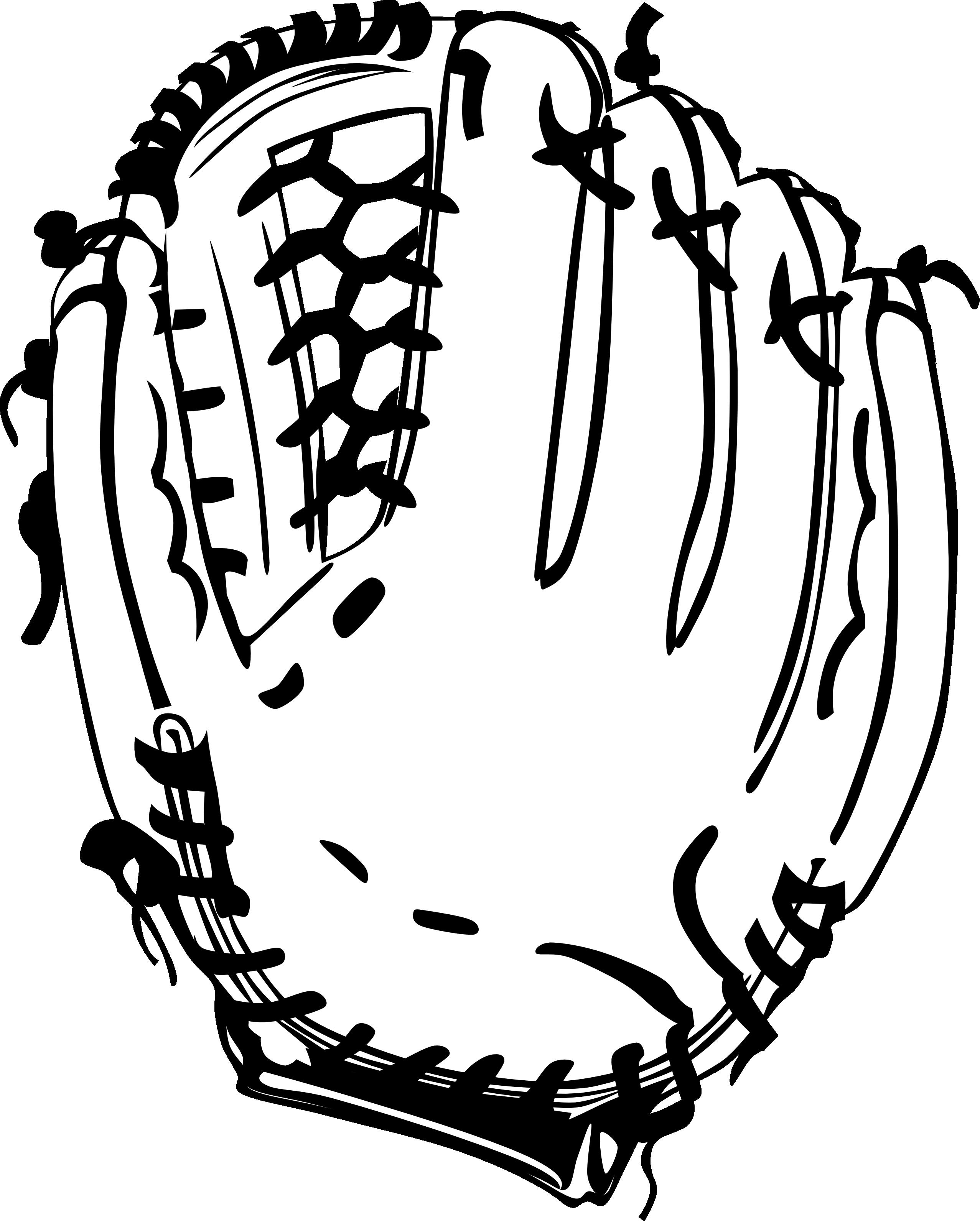 Glove clipart black and white, Glove black and white.