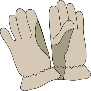 Cartoon Gloves Clipart.