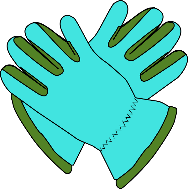 Work Gloves Clipart.