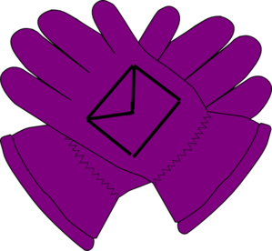 Purple Gloves Clipart.