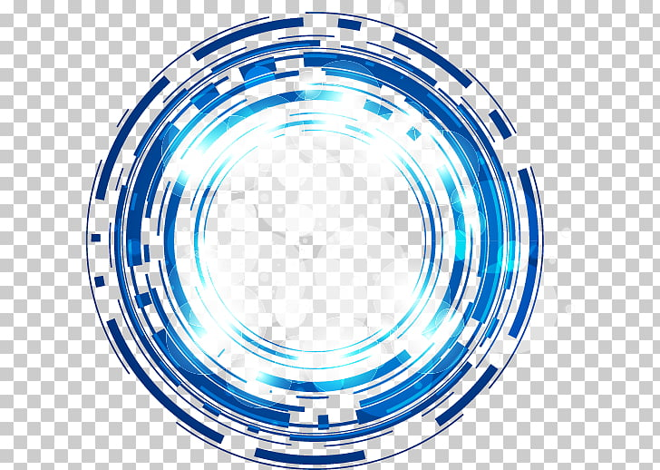 Science and technology Abstract blue fantasy glow circle.