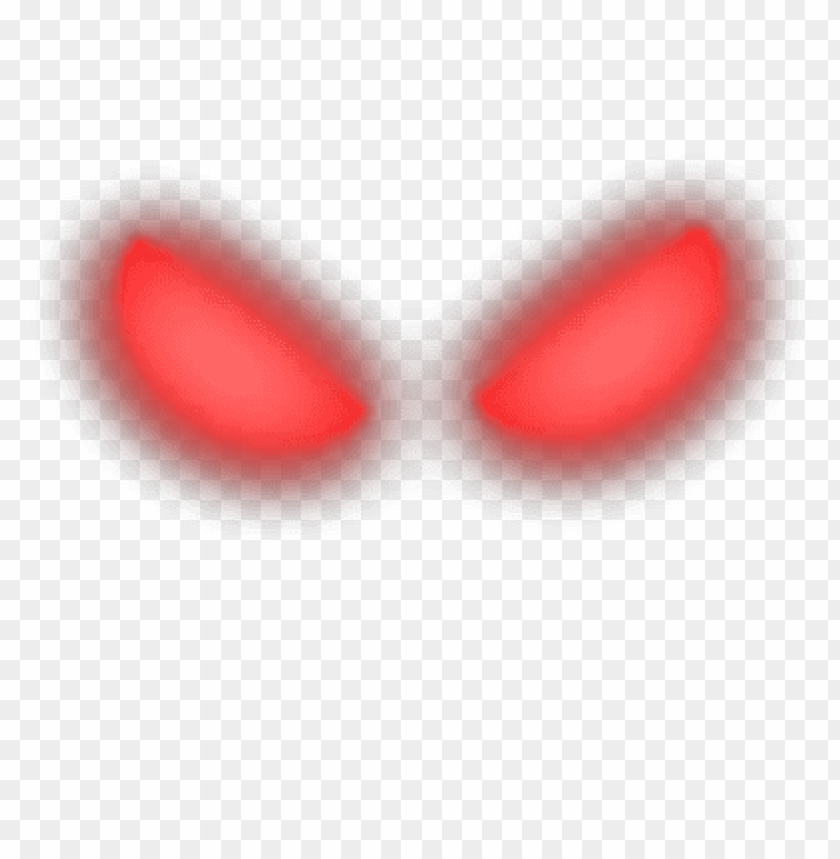 red glowing eyes PNG image with transparent background.