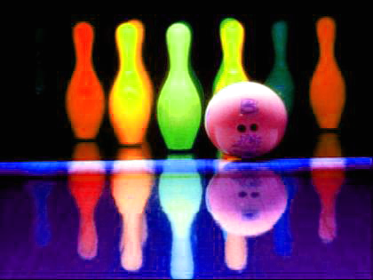 Pictures Glow In The Dark Bowling Activity Neon Birthday Party.