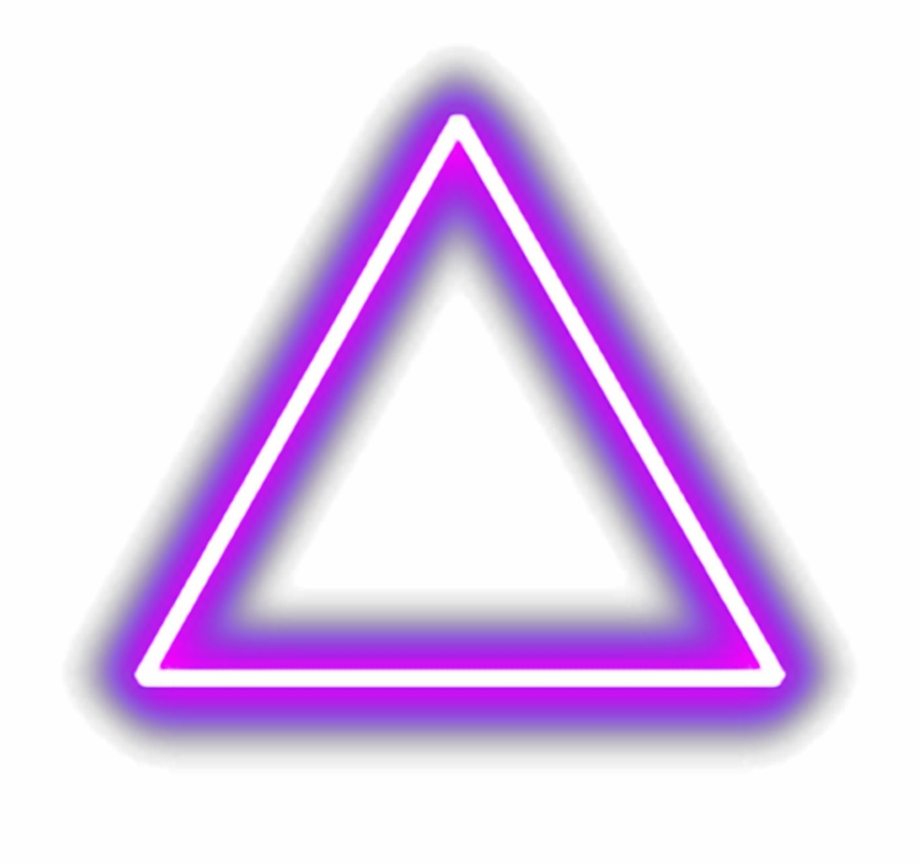 triangle #purple #glowingtriangle #aesthetic #glow.