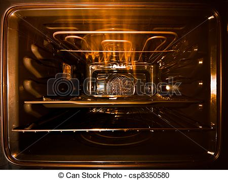 Stock Photography of hot oven.