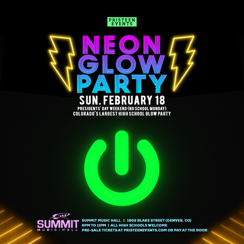 Neon Glow Party (High Schoolers Only).