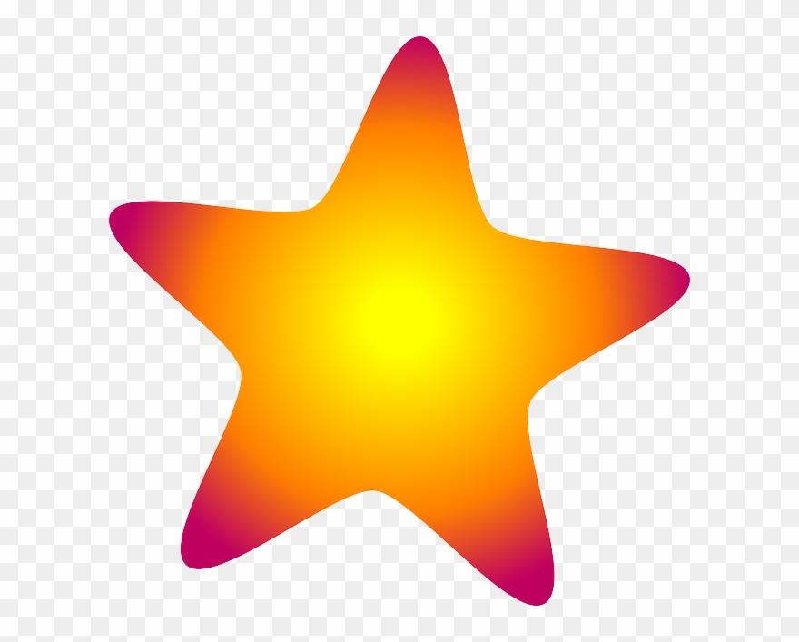 Glow Clipart Star Shape.