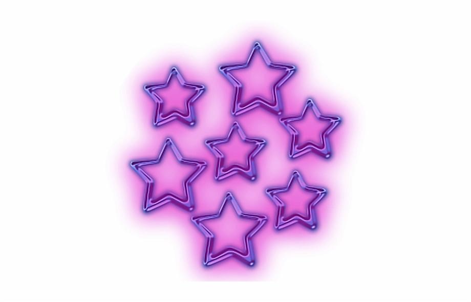 Glowing Stars Snapchat Star Purple Neon Purple Stars.