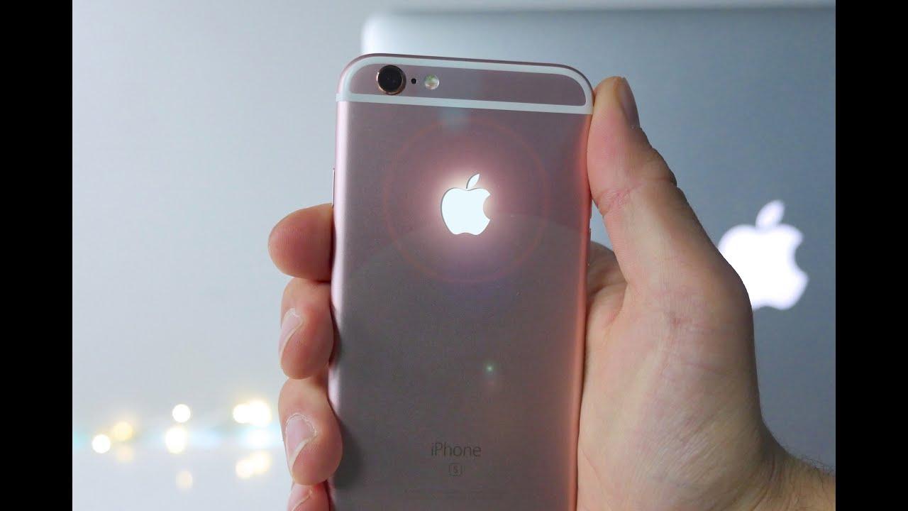 Glowing Apple Logo iPhone 6S Mod.