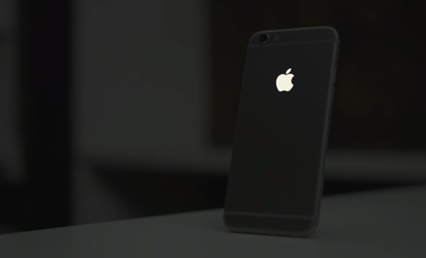 Custom iPhone 6 Shown Off with Glowing Apple Logo Made from.