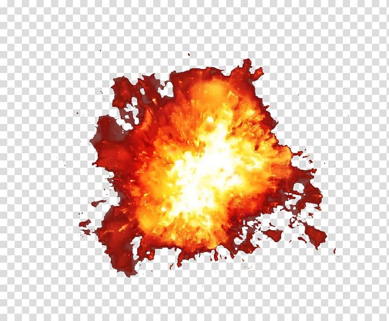 Explosion , Dust explosion, Glowing dust explosion ball.