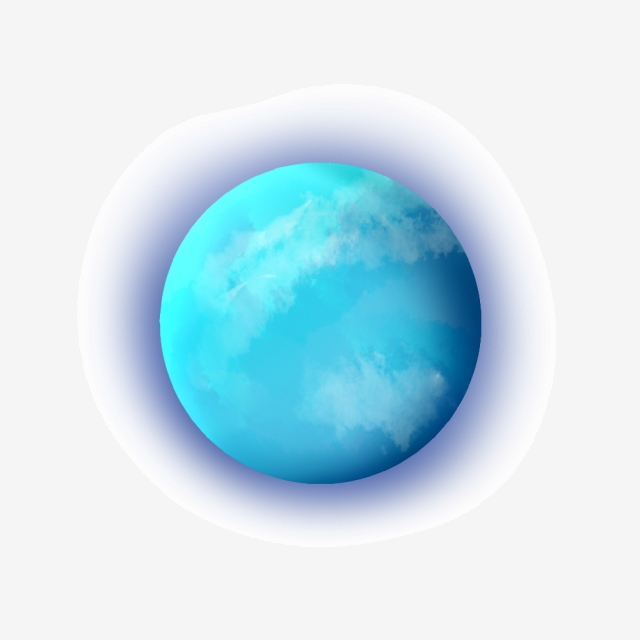 Blue Glowing Water Star Ball, Blue, Mercury, Planet PNG Transparent.