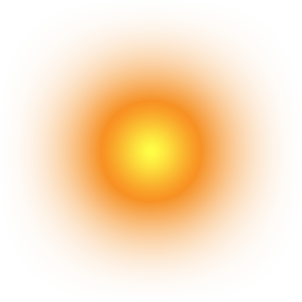 Glowing Sun transparent PNG.