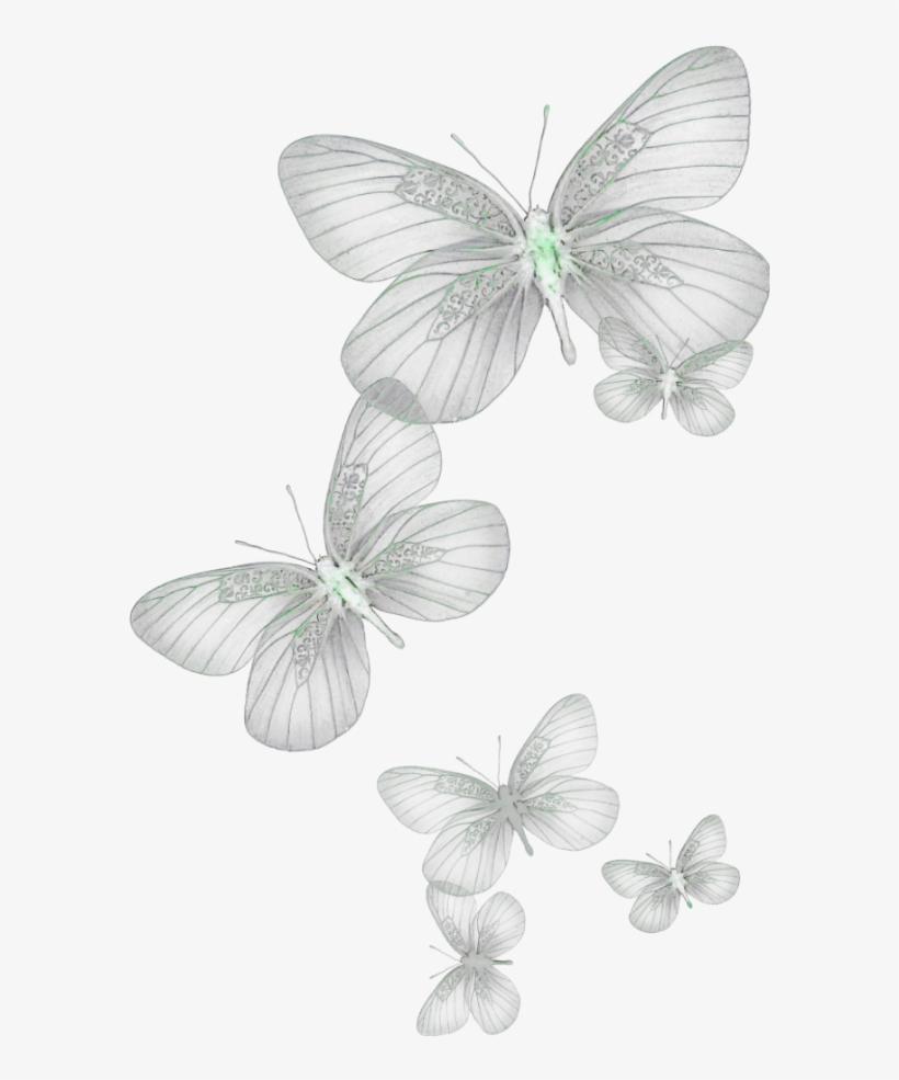 Ftestickers Butterflies Glow Green.