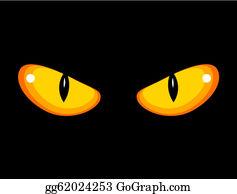 Glowing Eyes Clip Art.