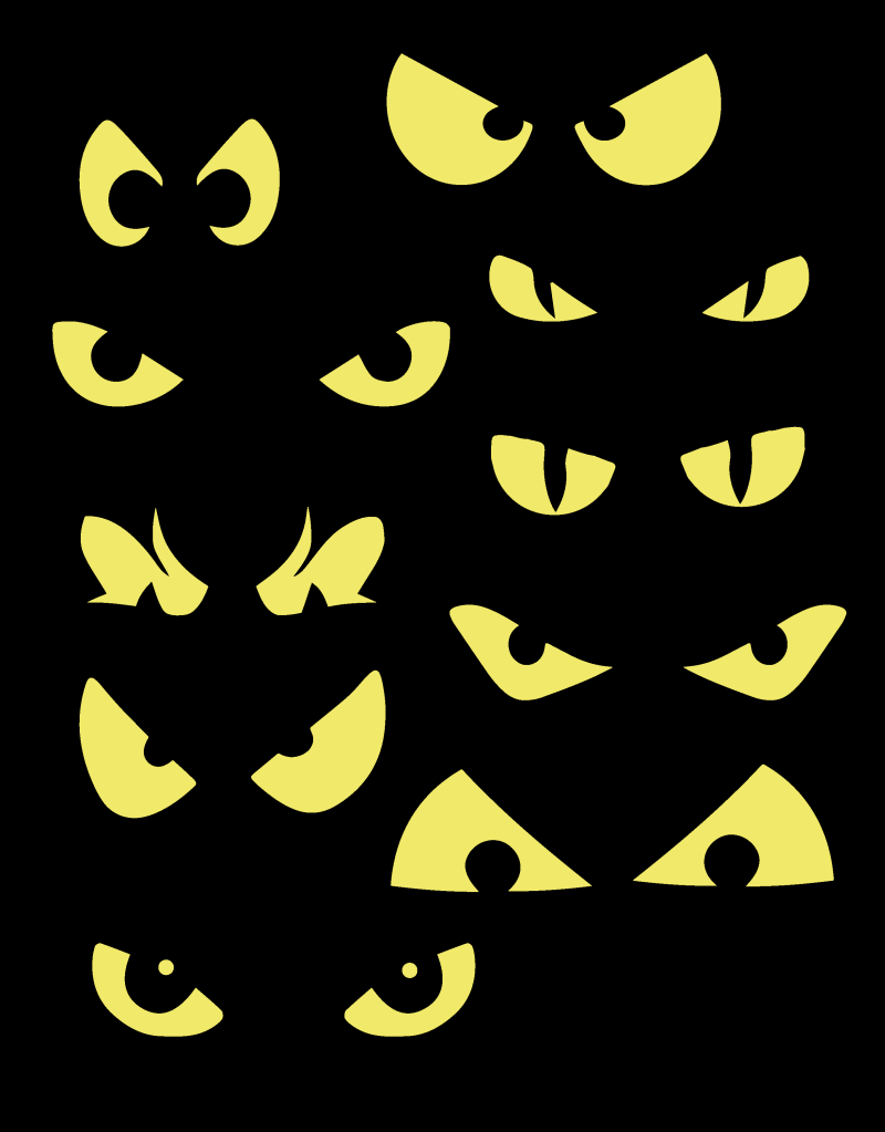 Spooky eyes clip art.