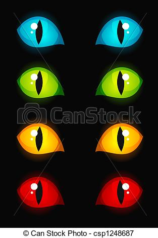 Stock Illustrations of Cat eyes.
