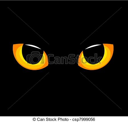 Cat eyes clip art.