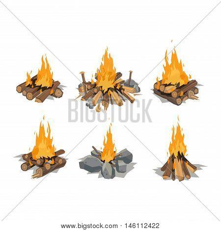 Campfire Vectors, Stock Photos & Illustrations.