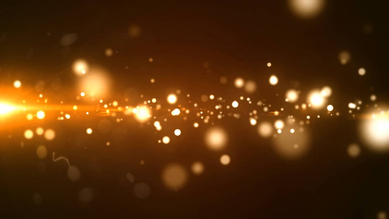 Glowing Golden Particle (FREE) : Motion graphics.