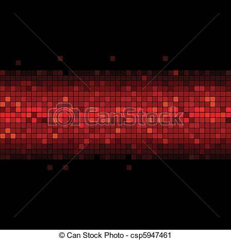 Vector Clip Art of red flicker in the black.