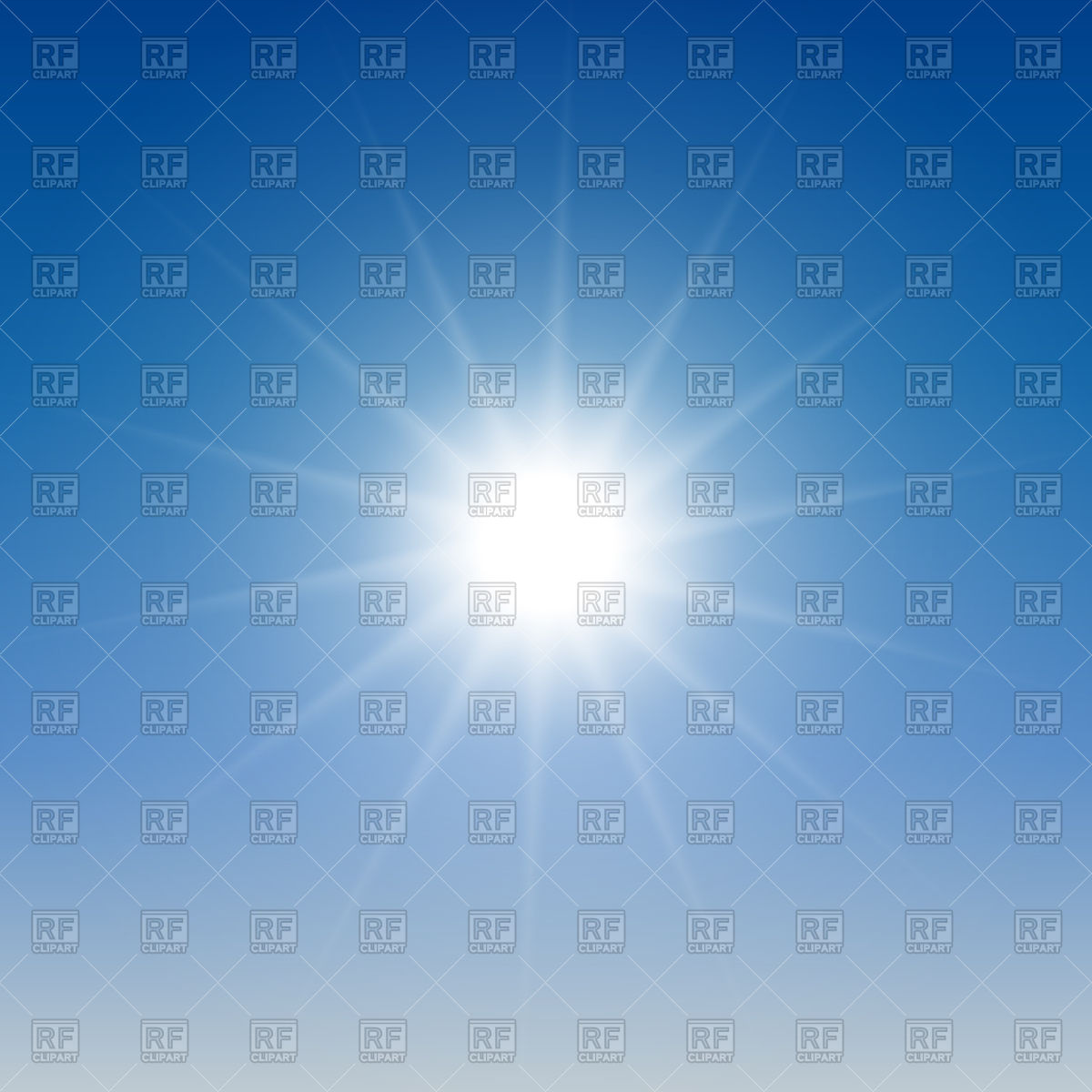 Glowing light on blue sky background Vector Image #126924.