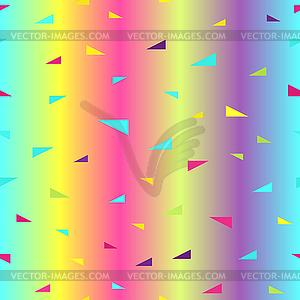 Glowing triangle pattern. Seamless.
