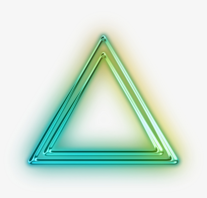 Glowing Triangle Png.