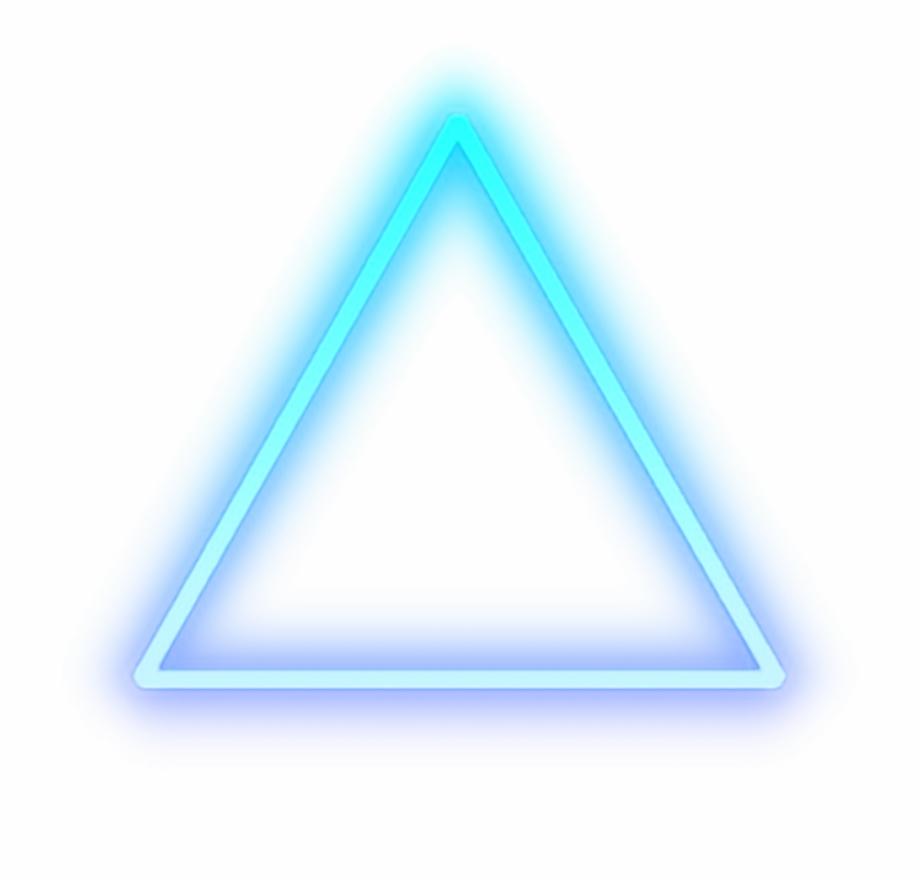 triangle #blue #glow #light #shape #cool.