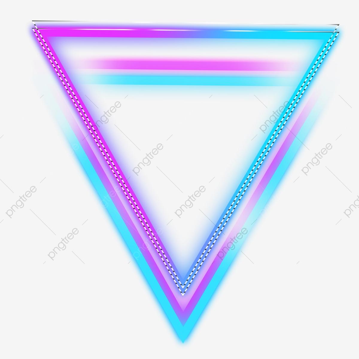 Triangle Neon Color Glowing Border, Triangle, Neon, Color Illuminate.