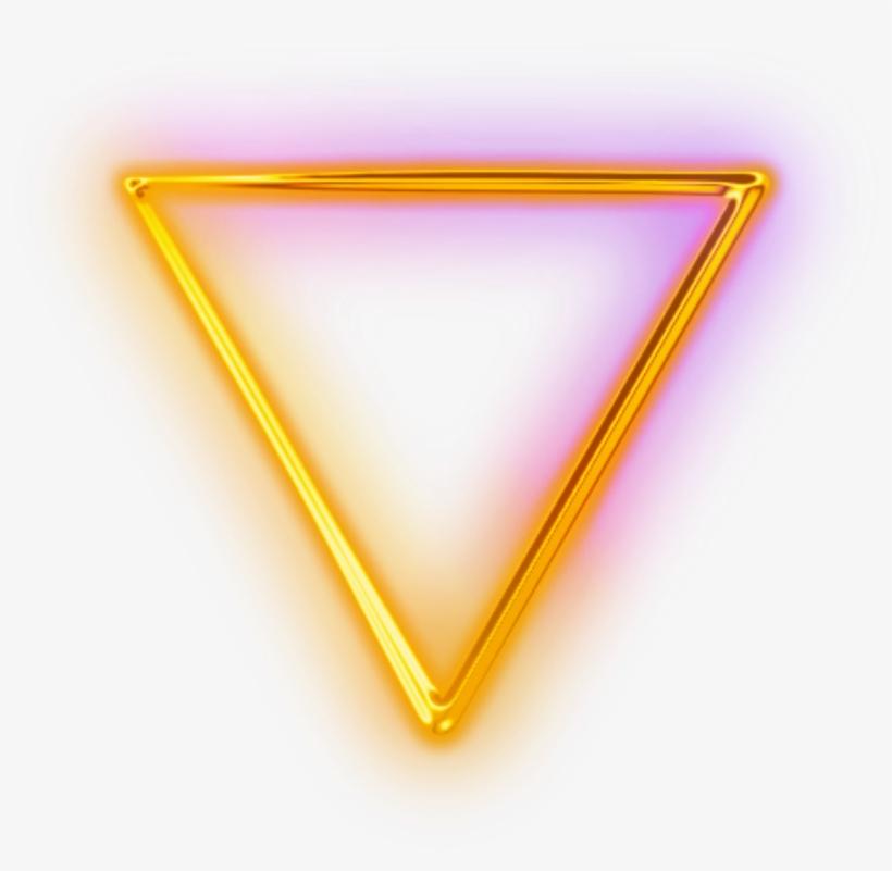 Ftestickers Geometricshapes Triangle Neon Yellow.