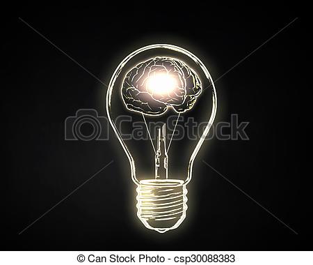 Stock Illustration of Human mind.