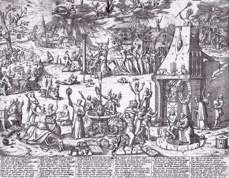 Trierer Hexentanz, 1594. Illustration for Thomas Sigfridus.