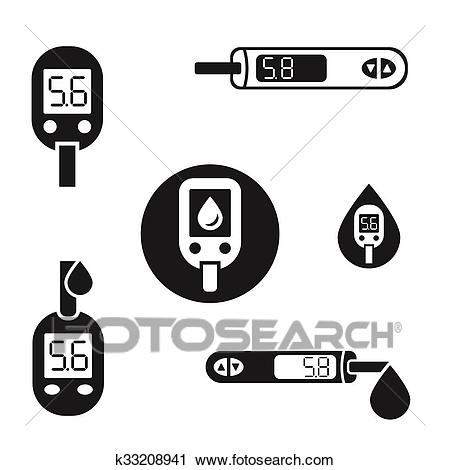 Diabetes Glucometer Icons 08 A Clipart.